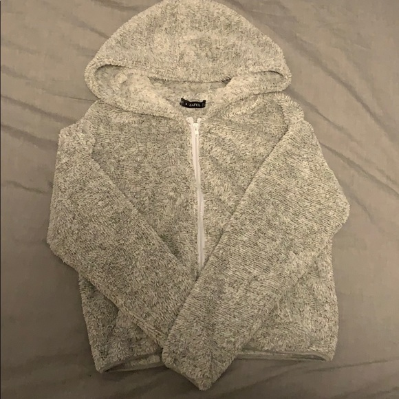 Zaful Teddy Zip Up Hoodie